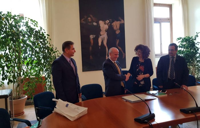 Visit of the Rector of the University of Tirana, Prof.Dr. Dr. Mynyr Koni at the University of Tuscia Studies in Italy
