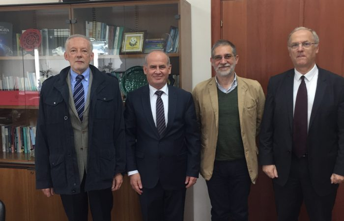 The Rector of the University of Tirana, Prof. Dr. Mynyr Koni received an official visit from professors from the University of Turin