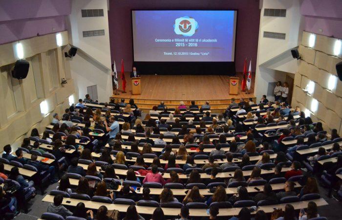 Ceremonia e fillimit të vitit akademik 2015-2016, UT