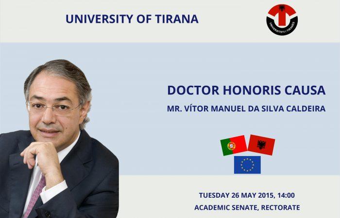 """Doctor Honoris Causa"" për Z. Vítor Manuel da Silva Caldeira"