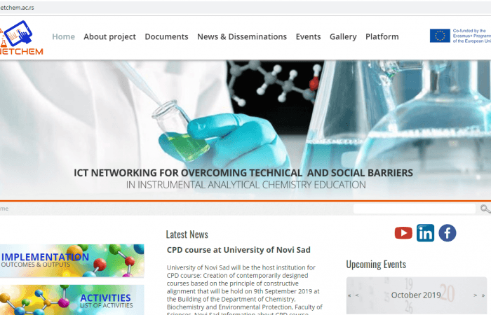 ICT Networking for Overcoming Technical and Social Barriers in Instrumental Analytical Chemistry Education, – NETCHEM