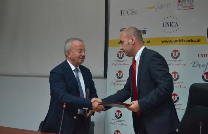 Nënshkrimi i marrëveshjes midis UT dhe Dhomës së Provës