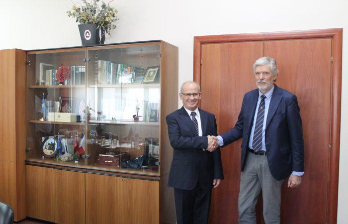 Takimi i Rektorit te UT-se Prof.Dr. Mynyr Koni me delegacionin e Universitetit te Studimeve te Triestes