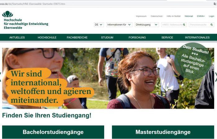 Hapet thirrja për bursa për studentët në kuadër të Programit Erasmus+ në Universitetin Eberswalde, Gjermani për semestrin e dytë të vitit akademik 2019-2020.