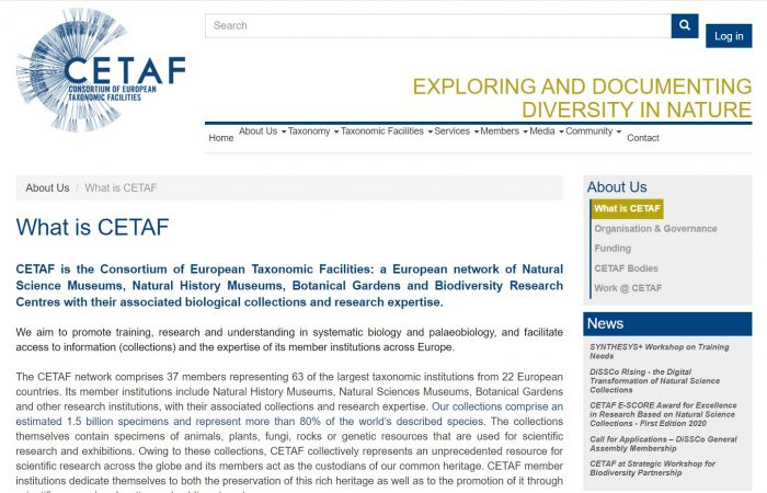 Çmimi E-SCORE (Excellence in Scientific Collections-based Research) dhënë nga CETAF (Consortium of European Taxonomic Facilities).