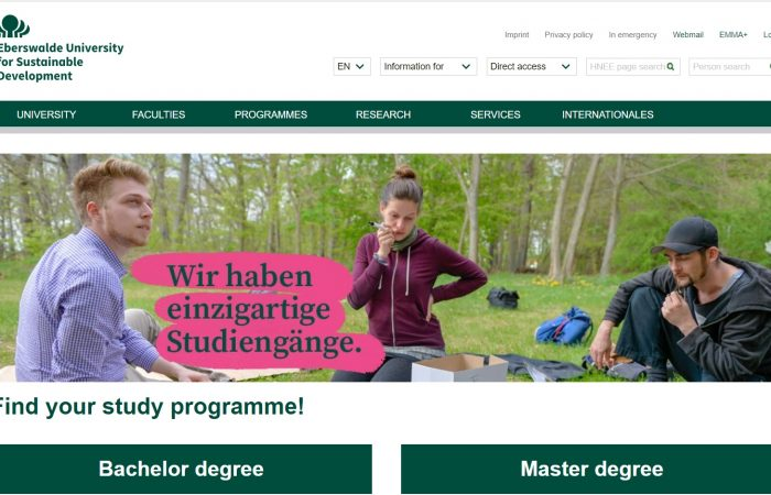 Hapet thirrja për bursa për trajnim për stafin e Universitetit të Tiranës në kuadër të Programit Erasmus +, në Universitetin Eberswalde në Gjermani për semestrin e dytë të vitit akademik 2019-2020.