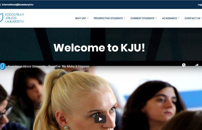 Hapet thirrja për bursa për stafin me kohë të plotë për mësimdhënie/trajnim në Universitetin Kodolanyi Janos, Hungari në kuadër të Programit Erasmus +.