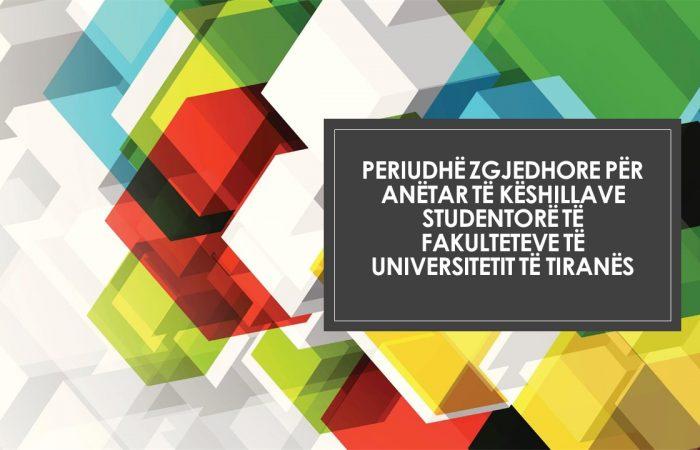 Periudhë zgjedhore për anëtar të Këshillave Studentorë të Fakulteteve të Universitetit të Tiranës
