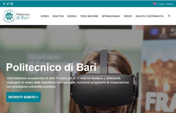 Hapet thirrja për bursa në programin Erasmus + në Universitetin Politeknik të Barit në Itali për semestrin e dytë të vitit akademik 2019-2020.