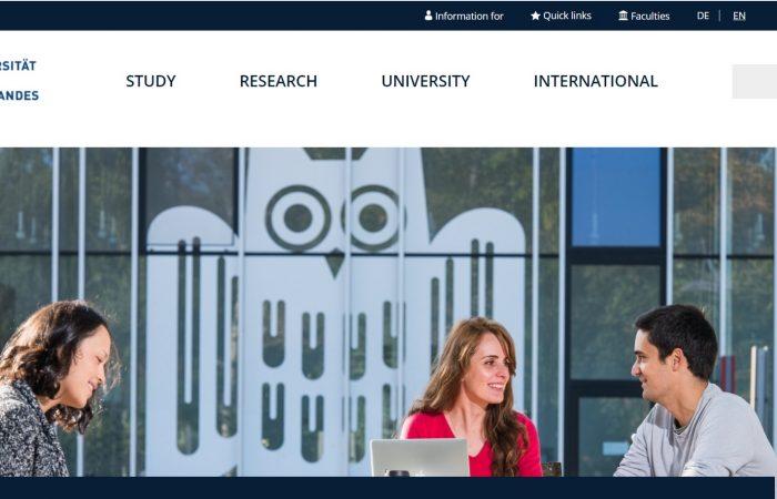 Hapet thirrja për aplikime për studentët në Universitetin Saarland, në Gjermani, në kuadër të Programit Erasmus +, për semestrin e dytë të vitit akademik 2019-2020.