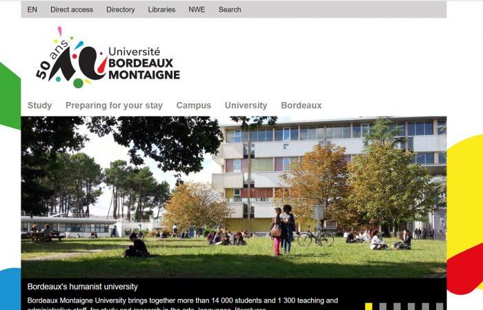Hapet thirrja për bursa në kuadër të programit Erasmus +në Universitetin Bordeaux Montaigne, Francë