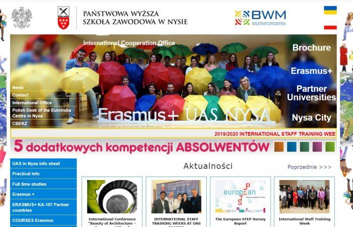 Hapet thirrja për bursa në kuadër të programit Erasmus+ në Universitetin e Shkencave të Aplikuara të Nysës, Poloni