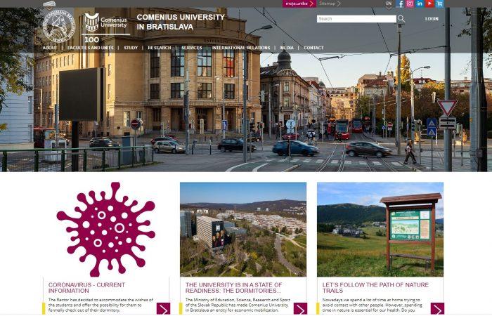 Hapet thirrja për aplikime për bursa për studentët në Universitetin Comenius në Bratisllavë për semestrin e parë të vitit akademik 2020-2021.