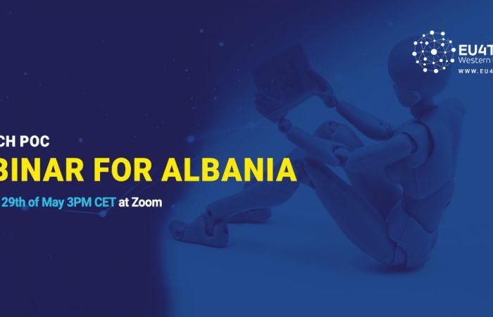 Njoftim për Webinar nga EU4TECH PoC