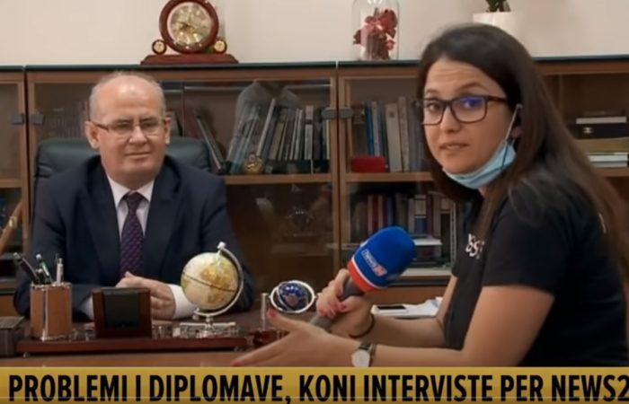 Intervistë e Rektorit të UT në lidhje me çështjen e diplomave të Studentëve të Fakultetit të Ekonomisë