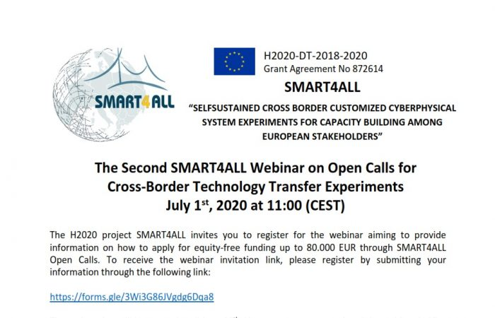 [SMART4ALL]: 2nd Webinar on Open Calls