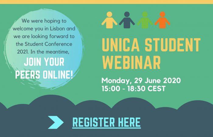 """Pjesëmarrje në """"Webinar UNICA Student"""""""