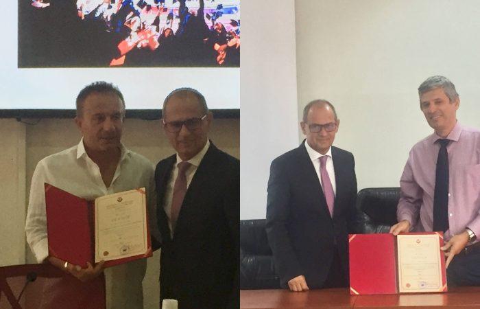 Sot më datë 31.08.2020 Prof. Dr. Artan Hoxha,Rektori i Universitetit të Tiranës përmbylli ceremoninë eemërimit të drejtuesve të njësive kryesore përkatësisht në Fakultetin e Gjuhëve të Huaja dhe në Fakuletin e Shkencave të Natyrës.