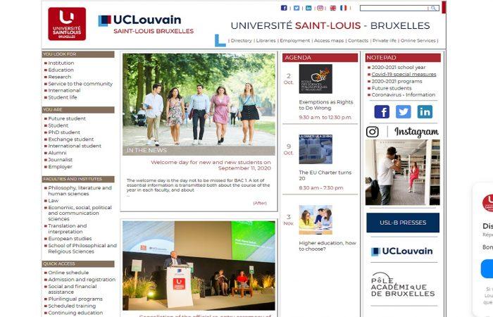 Hapet thirrja për aplikime për bursa për studentët në Universitetin Saint Louis në Bruksel, në kuadër të Programit Erasmus +, për semestrin e dytë të vitit akademik 2020-2021.