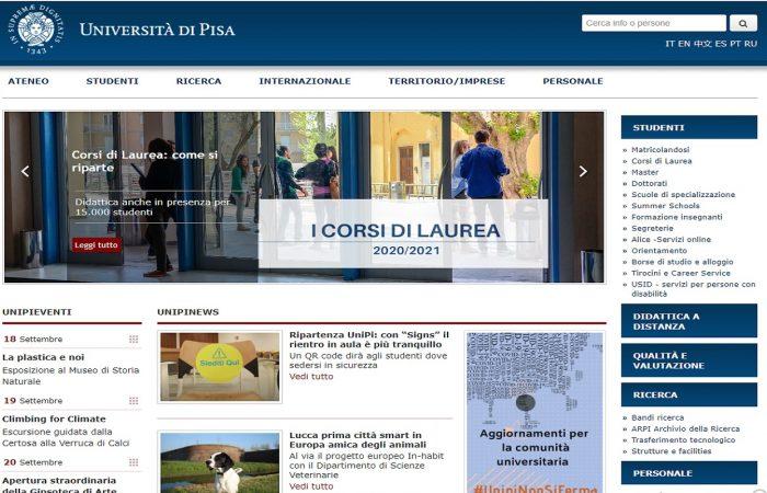 Hapet thirrja për aplikime për bursa për studentët e Universitetit të Tiranës në Universitetin Pisa, Itali, për semestrin e parë të vitit akademik 2020-2021.