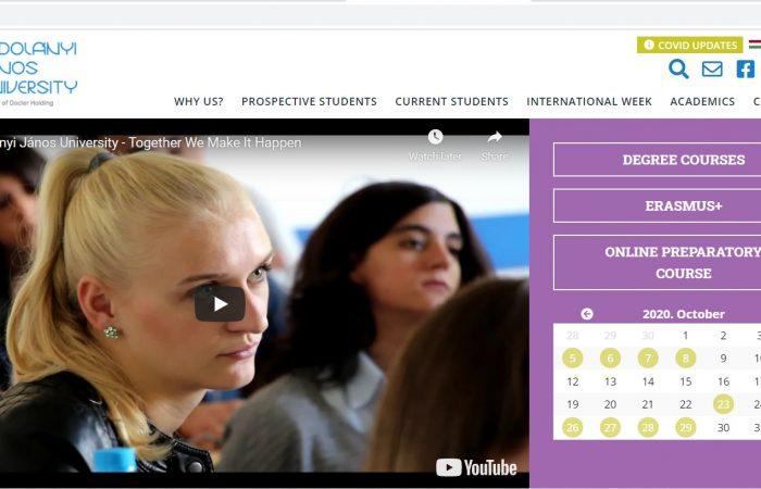 Hapet thirrja për aplikime për studentët e Universitetit të Tiranës në Universitetin Kodolanyi Janos, në Hungari, në kuadër të programit Erasmus +, për semestrin e dytë të vitit akademik 2020-2021