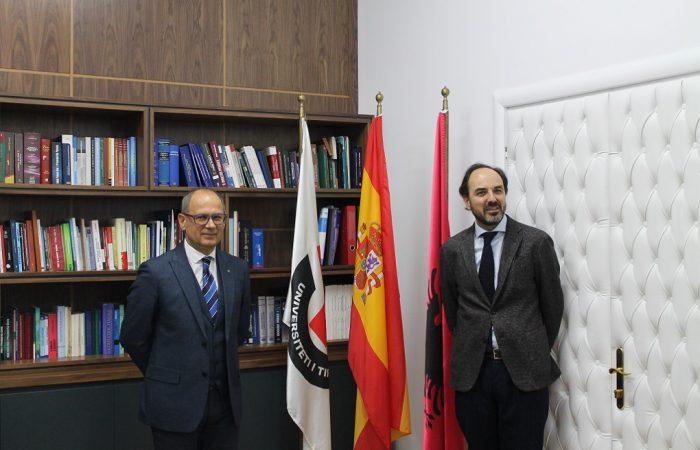 Takimi i Rektorit me Ambasadorin e Mbretërisë së Spanjës