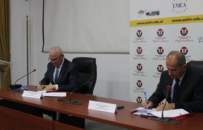 Memorandum Mirëkuptimi ndërmjet Universitetit të Tiranës dhe Universitetit Europian të Tiranës