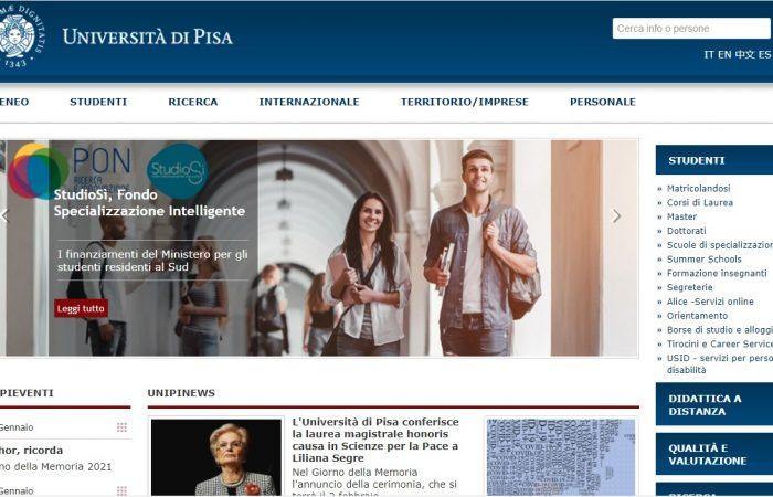 Hapet thirrja për aplikime për bursa për studentët e Universitetit të Tiranës në Universitetin Pisa, Itali, për semestrin e dytë të vitit akademik 2020-2021.