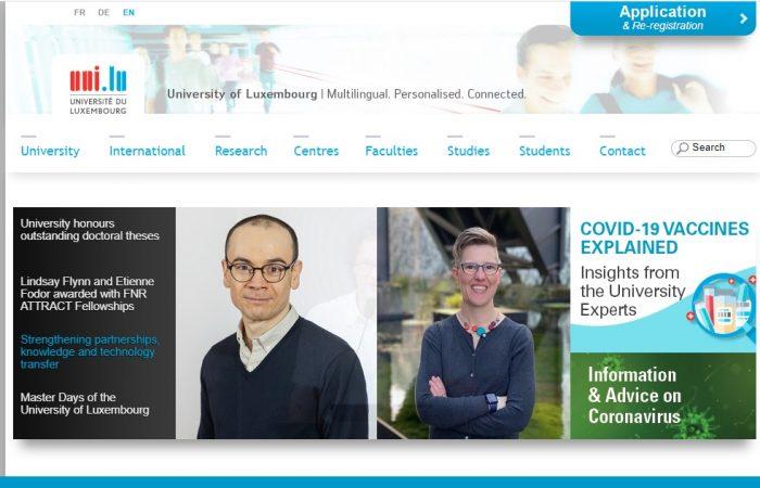 Hapet thirrja për aplikime për bursa për studentët e Universitetit të Tiranës në Universitetin e Luksemburgut, në Luksemburg, për semestrin e parë të vitit akademik 2021 – 2022