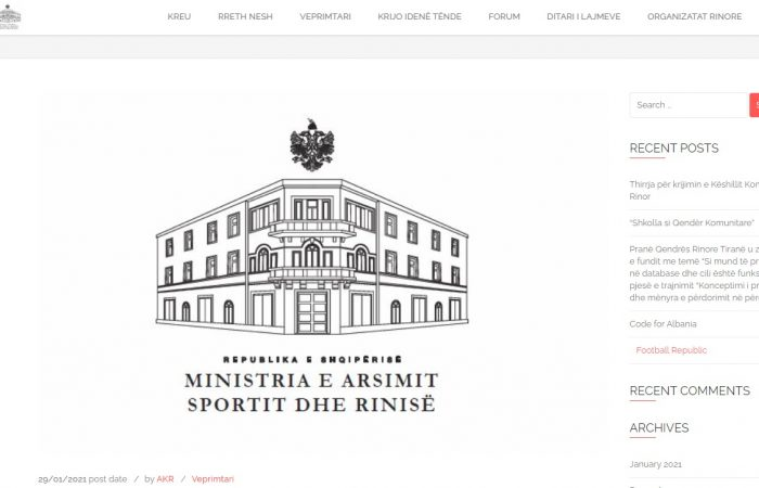 Universiteti i Tiranës ju informon se Agjencia Kombëtare e Rinisë ka shpallur thirrjen për krijimin e Këshillit Kombëtar Rinor, i cili do të jetë një organ këshillimor që funksionon pranë Ministrit përgjegjës për Rininë.