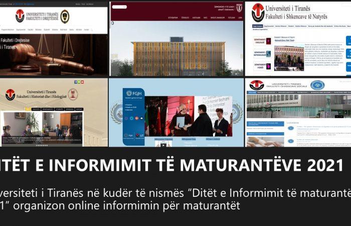 Ditët e informimit për nxënësit maturantë në Universitetin e Tiranës.