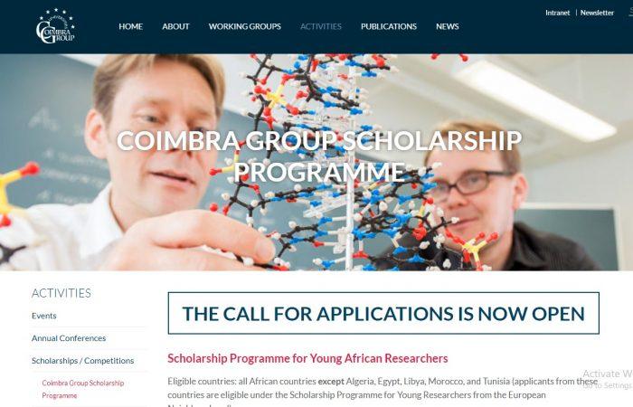 Universiteti i Tiranës ju informon se Coimbra Group ka hapur thirrjen për aplikime për Programet e Bursave për vitin 2021.