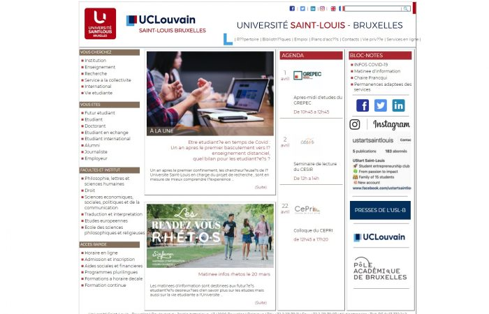 Hapet thirrja për aplikime për bursa për studentët në Universitetin Saint Louis në Bruksel, në kuadër të Programit Erasmus +, për semestrin e parë të vitit akademik 2021-2022.