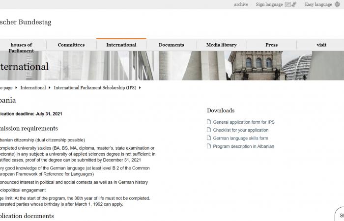 Bursa Ndërkombëtare Parlamentare të Bundestagut Gjerman