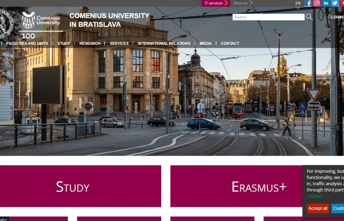 Hapet thirrja për aplikime për bursa në kuadër të programit Erasmus+ KA107 në Universitetin Comenius në Bratislavë, për stafin me kohë të plotë të Universitetit të Tiranës për mësimdhënie dhe trajnim për semestrin e parë të vitit akademik 2021-2022.