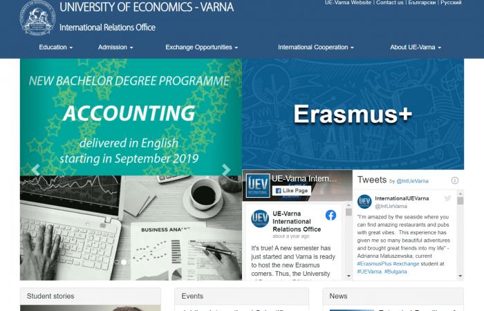 Hapet thirrja për aplikime për bursa trajnimi në Universitetin e Ekonomisë në Varna, Bullgari, për stafin me kohë të plotë të Universitetit të Tiranës për semestrin e dytë të vitit akademik 2020 – 2021.