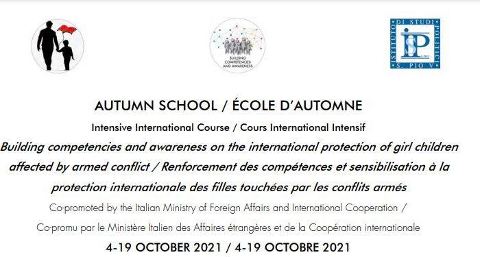 """Hapet thirrja për aplikime për """"International Autumn School"""" të organizuar nga Rrjeti Universitar i Fëmijëve në Konfliktet e Armatosura i cili do të mbahet online nga data 4 deri më 19 Tetor 2021, për studentët e Universitetit të Tiranës."""