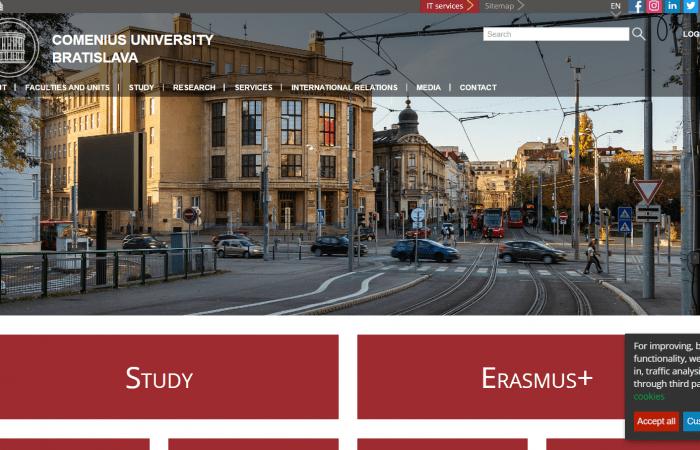 Hapet thirrja për aplikime për bursa në kuadër të programit Erasmus+ KA107 në Universitetin Comenius në Bratislavë, për stafin me kohë të plotë të Universitetit të Tiranës për mësimdhënie dhe trajnim, për semestrin e dytë të vitit akademik 2021-2022.